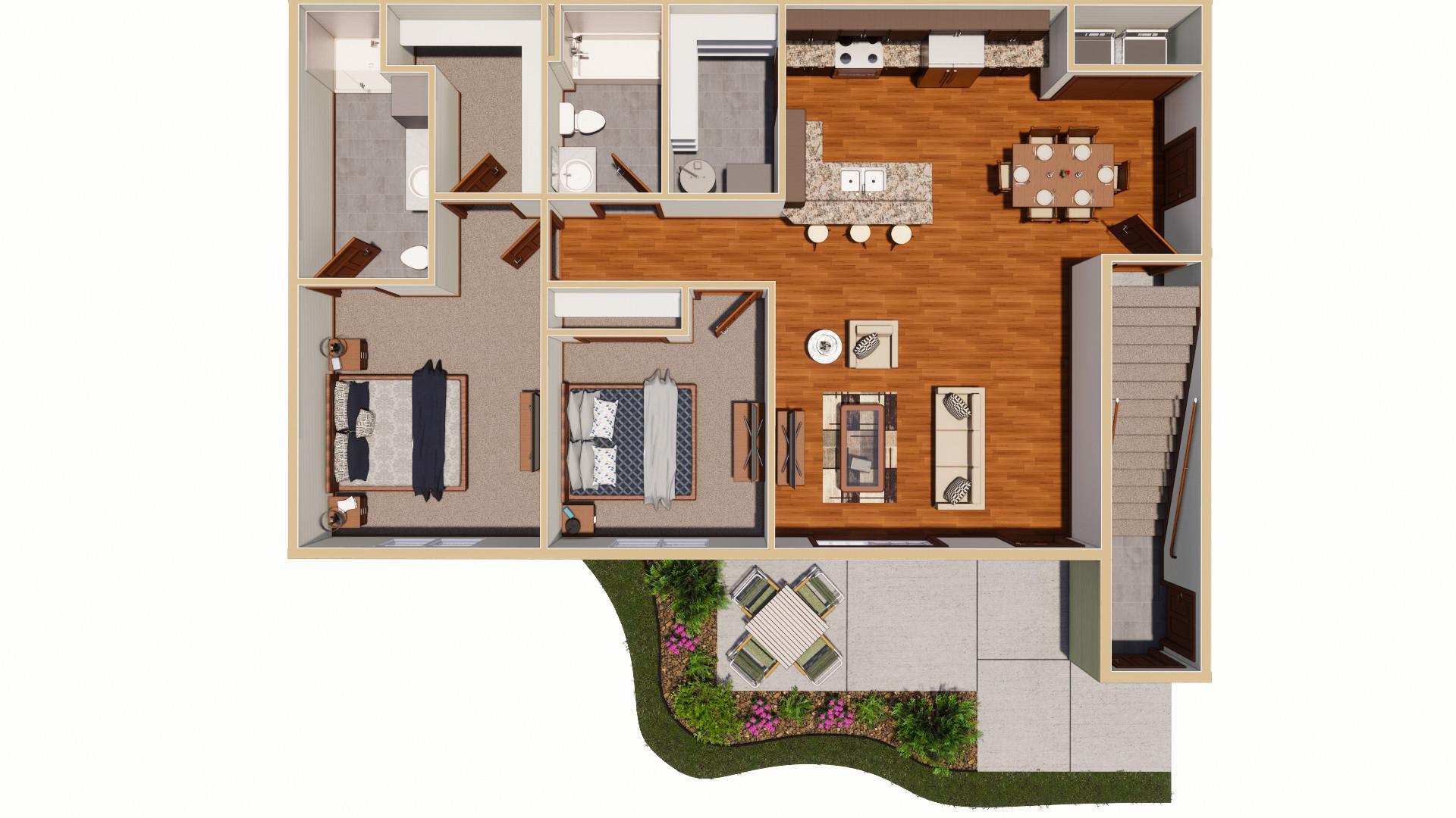 07-07-2020 Elk's Apartments 1st Floor Rendering